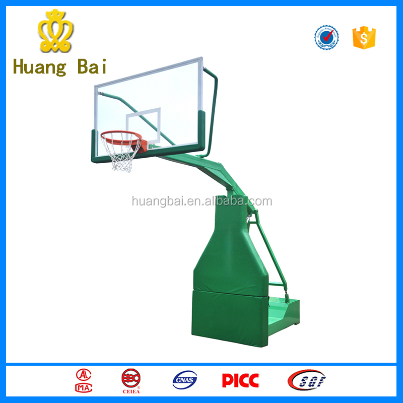Steel base portable basketball stand with high quality for playground