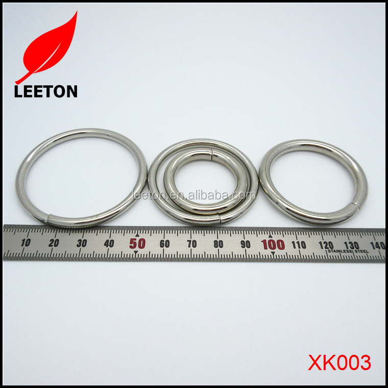 Dongguan supply metal cheap unwelded O ring buckle for handbag