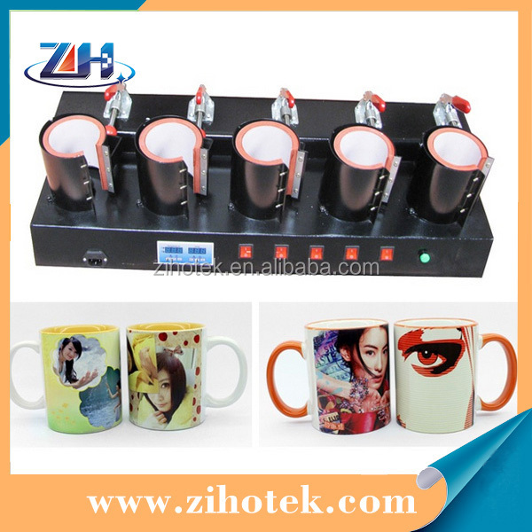 Hot 5 in 1 mug heat press machine 5pcs mugs printing at same time