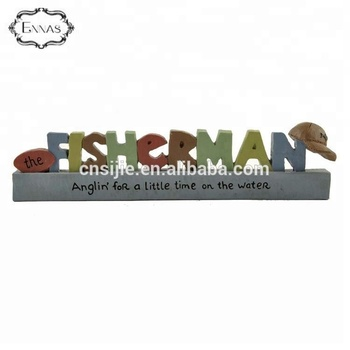 Custom made fisherman ornaments profession gifts desk crafts for friends