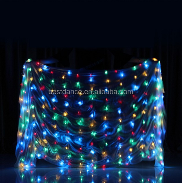 Details about  /LED Scarf 217x109cm LED Light Dancewear light club show belly dance costumes NEW