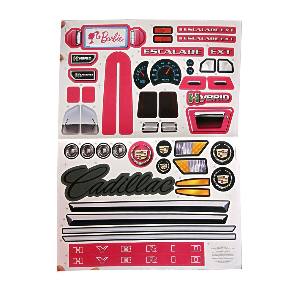 buy power wheels w6203 barbie escalade label decal sheet in cheap price on alibaba com buy power wheels w6203 barbie escalade
