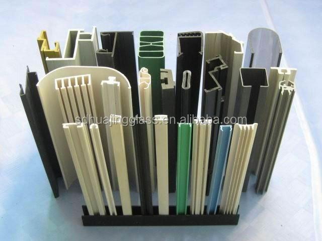 Pvc perfiles para puertas de vidrio pvc perfil de la - Perfiles de plastico ...