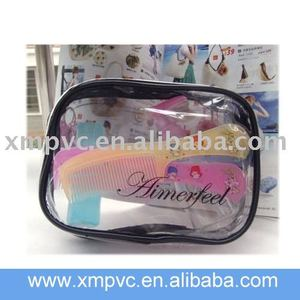 Black ping makeup case with clear face XYL-C258
