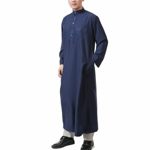 YSMARKET 7 Color Muslim Men Long Sleeve Thobe Islamic Clothing Saudi Arab Mens Kaftan Thobe Plus Size Mens Kaftans E123600