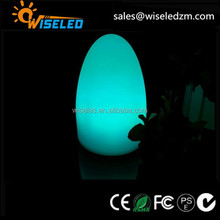 rgb colors changing plastic magic egg light with remote control