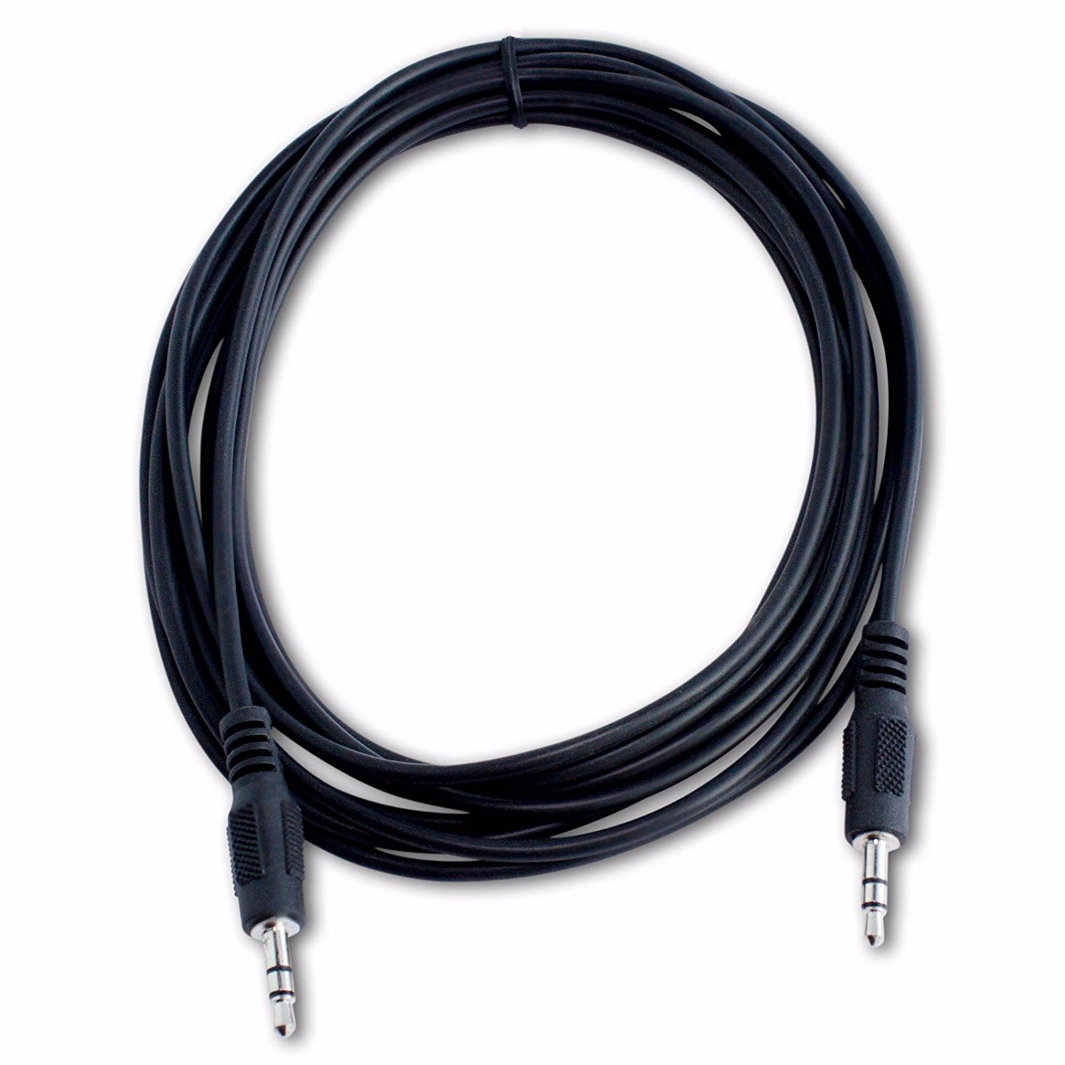ReadyPlug 3.5mm Audio Cable for: Naxa NPB-240 Portable CD Boombox Line In/Aux Jack M/M (Black, 12 Feet)