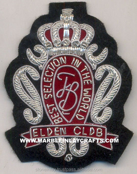 Wire Bullion Crests | Bullion Badges | Hand Embroidered Bullion Crest  Patches - Buy Hand Embroidered Bullion Military Patches,Embroidered Blazer  Crest