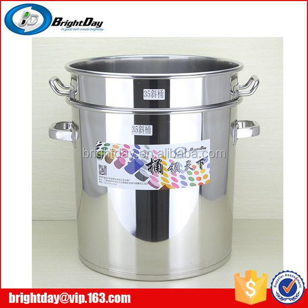 100L stainless steel cook pot with valve large pot with flat lid