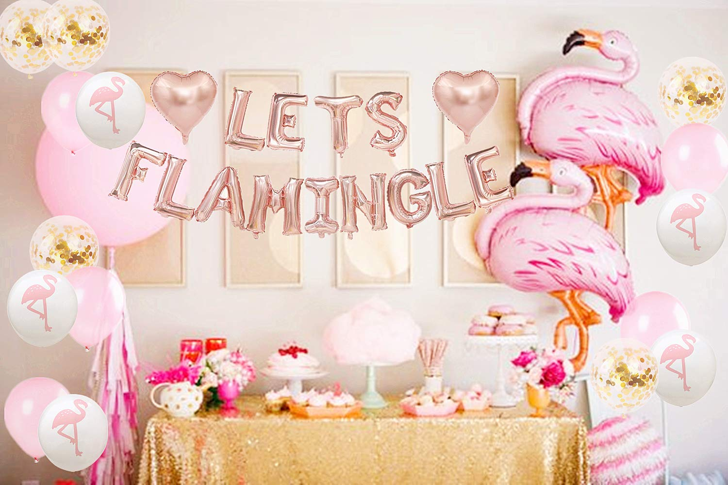 party supplies happy birthday girl wedding  party balloons decorations Flamingo stickers