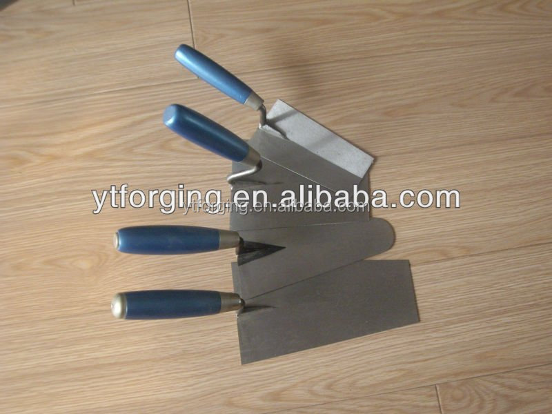 bricklaying trowel with plastic handle
