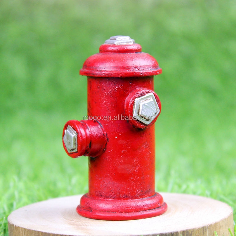 china supplier Zakka resin Fire hydrant decoration