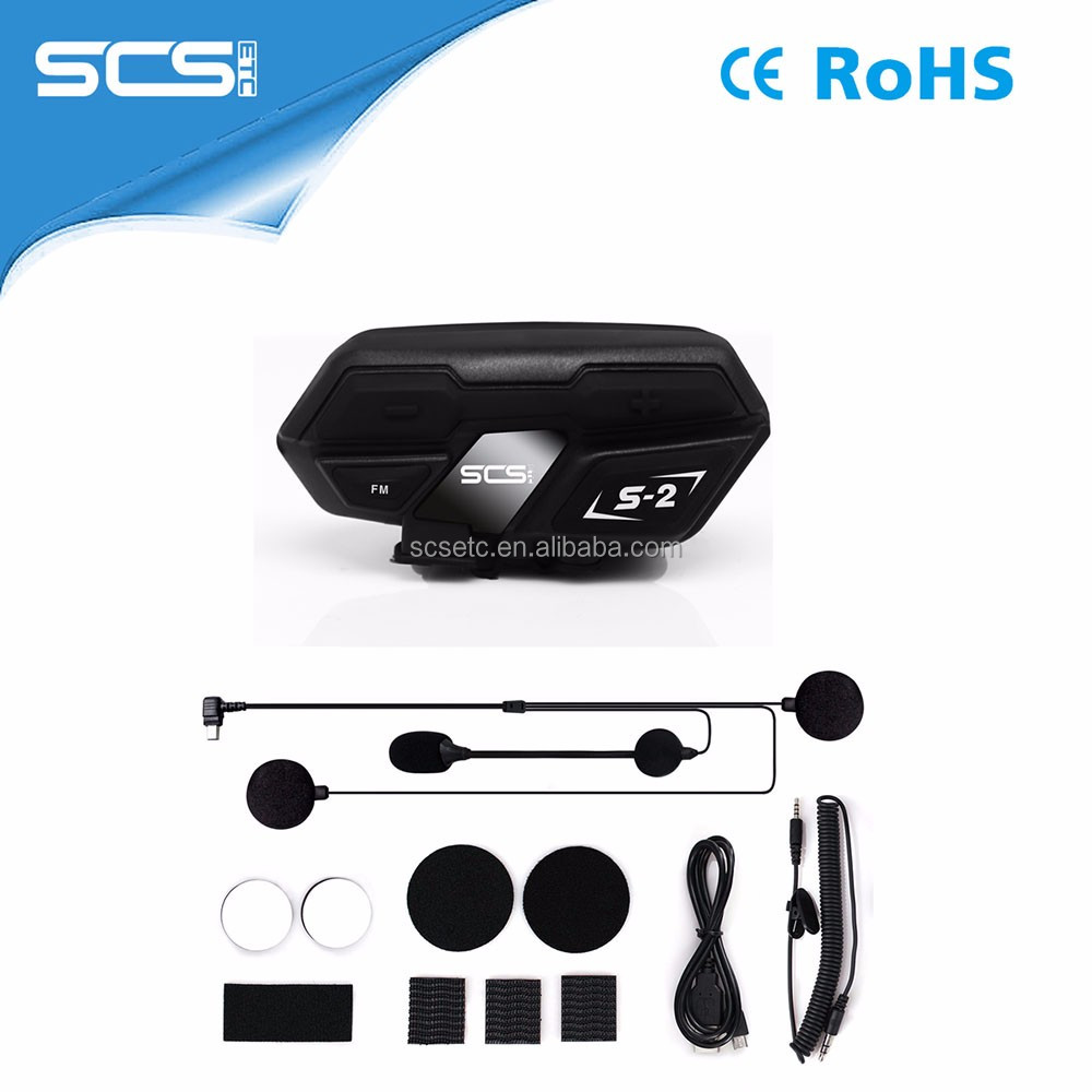 S-2 helmet wireless communication system with FM function