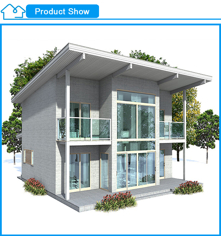 low cost modern design light gauge steel framing prefab house china