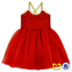 kids Red Sequin Summer Dress Baby Girl One Piece Party Pom Dress Baby Wedding Dress