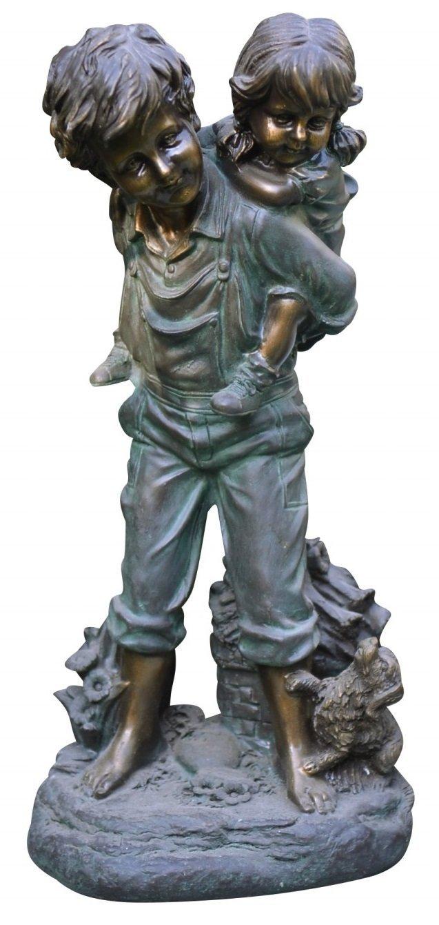 Alpine Corporation GXT484 Boy Giving Piggyback Ride Statue