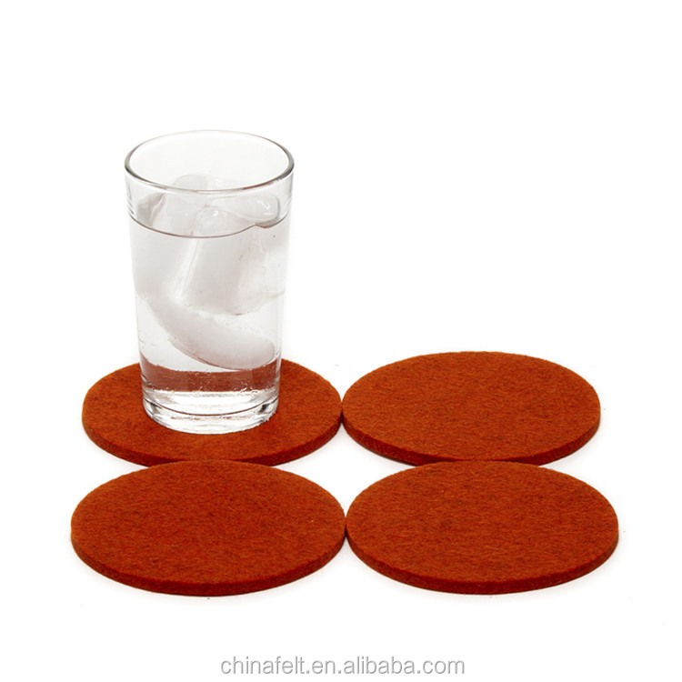 Eco felt glass cup coaster round felt coaster for cup