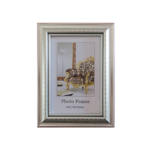 PS silver color plated photo frame 4x6 size plastic frames for photos