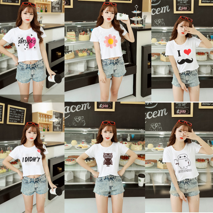Teen Bikini Models Design White Custom Printed Knit Crop Tops Direct Buy China