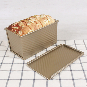 Non-stick large capacity baking toast pan For Square Toast Bread carbon steel Toast Box With Cover