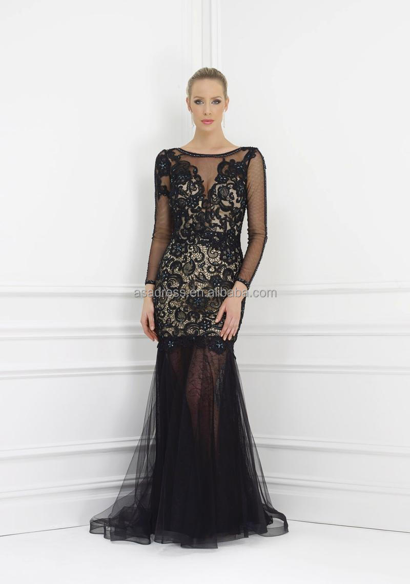 f8f13b3046 Evening Dresses With Sheer Long Sleeves - raveitsafe