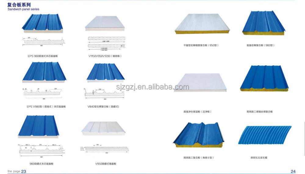 Sandwich Panels Types : Lightweight high density eps foam blocks roofing rock