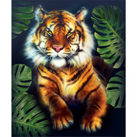 Little tiger picture 3D wall art DIY diamond painting art