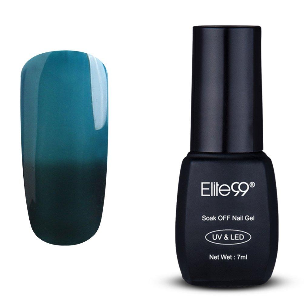 Elite99 Temperature Color Change Nail Polish, Thermal Color-Changing UV LED Soak Off Nail Art Gel Polish, Professional Salon Manicure Pedicure 7ML 5747