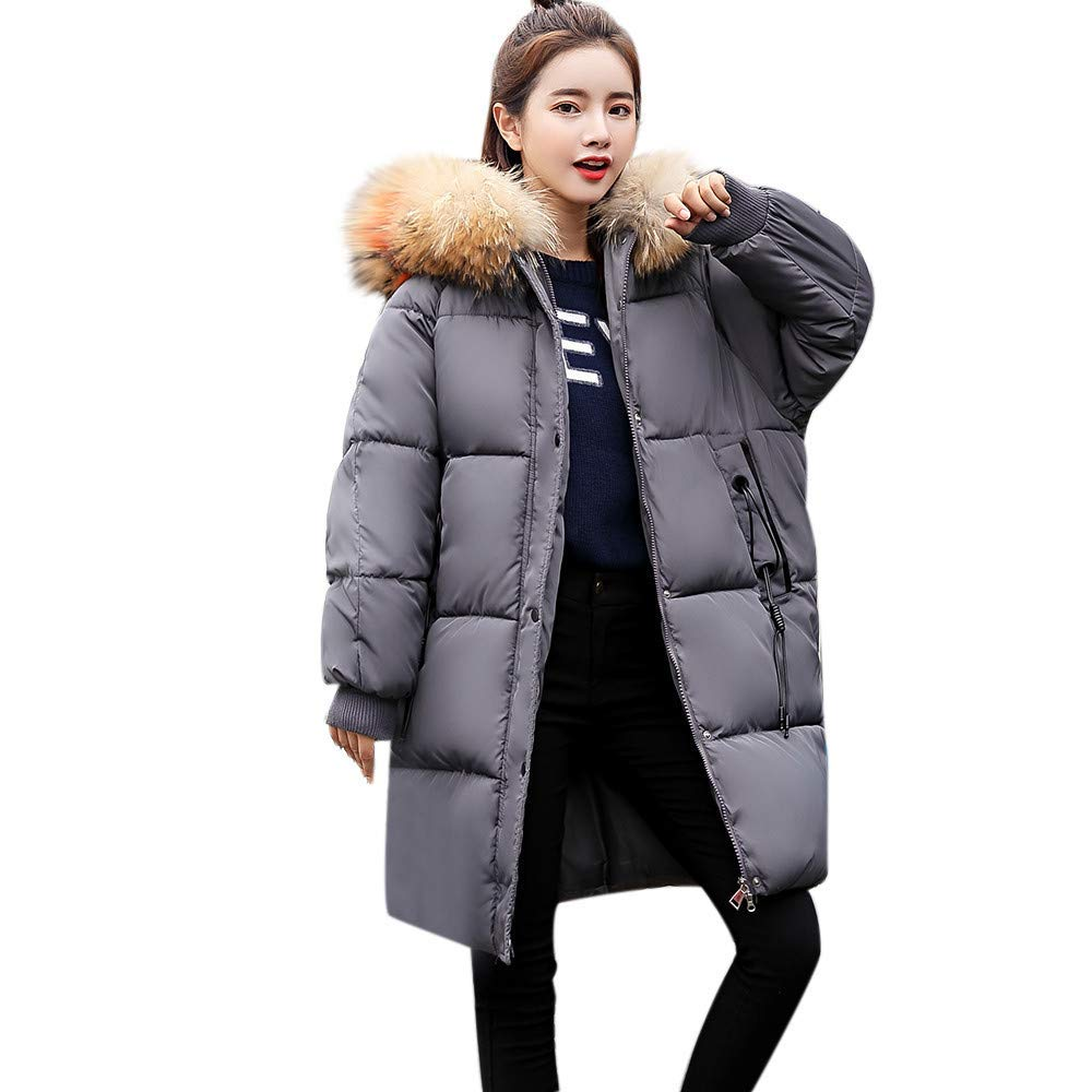 Dreamyth-Winter Women Thicker Solid Slim Warm Lammy Jacket Hair Collar Coat Overcoat