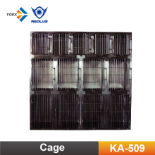 KA-509 Professional dog kennel wholesale stainless steel dog cage with rounded corner