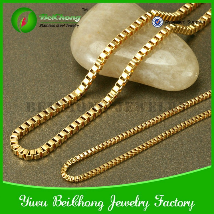 on polishing chains accessories item from gold necklaces in color aliexpress jewelry plated necklace new chain long com fashion plain steel stainless