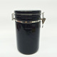 wholesale black glazed airtight coffee canister