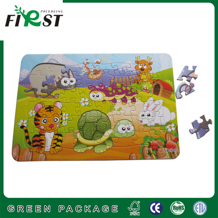 Grey cardboard jigsaw baby puzzle /cartoon paper cardboard game puzzle