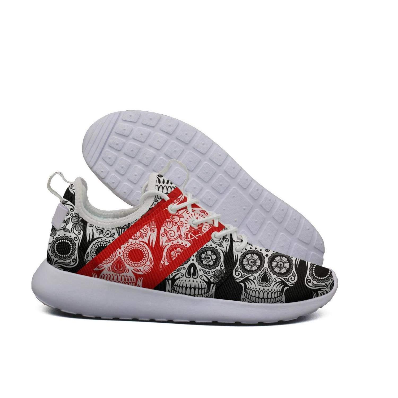QsvMo Skull Boy Shallow Flats Leisure Shoes Cool Sneaker