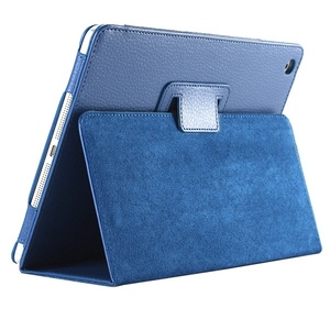 Wholesale Auto Sleep/Wake Up Flip Litchi PU Leather Cover For Apple ipad 2 3 4 Smart Stand Holder Folio Case