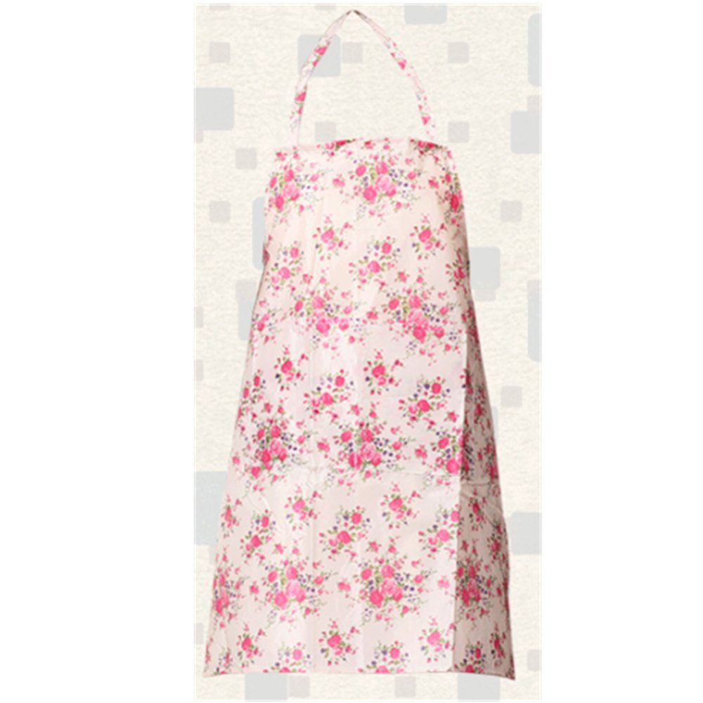 KAKA(TM) Kitchen Women Fashion Floral Pattern Waterproof Chef Cooking Cook Apron Bib -(34.223.6 inch )Pink floral