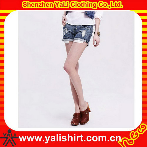 2017 Latest high quality women hot sexy denim shorts wholesale torn jeans shorts