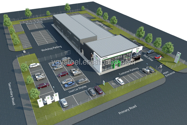 Building Materials Prefabricated Steel Structural Building Shopping Mall