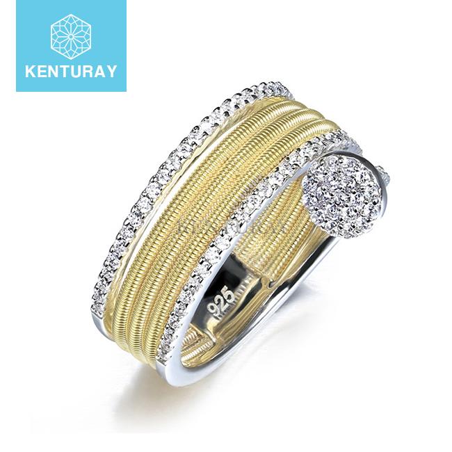 Diamond Ocean Inspired Engagement Ring Diamond Ocean Inspired