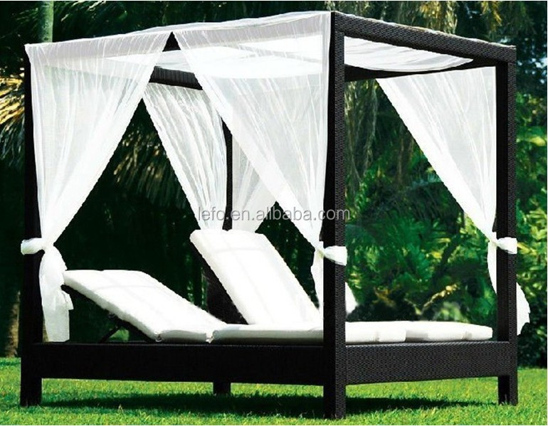 Outdoor canopy beds home design for Pool canopy bed