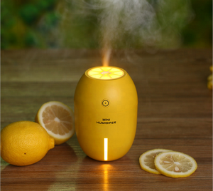 Creative Ultrasonic USB Charging Lemon shape air Humidifier / Mini silent home office desktop Essential Oil Diffuser