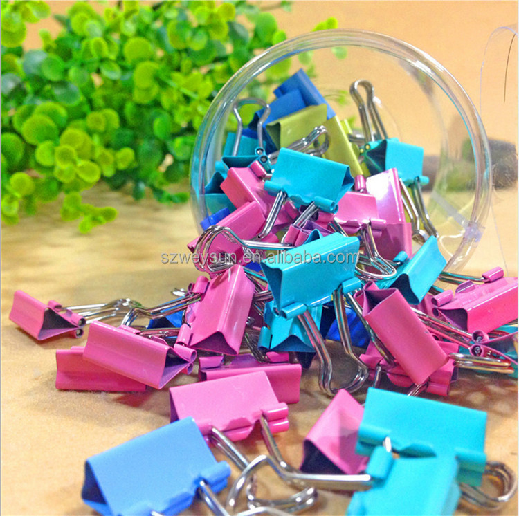 Colorful Metal Binder <strong>Clips</strong> 15mm Notes Letter Paper <strong>Clip</strong> Office Supplies Color Random Office Binding Products DHL freeshipping