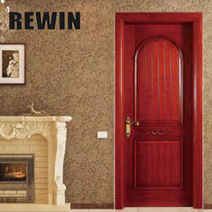 Simple design Teak wood veneer doors for interior rooms