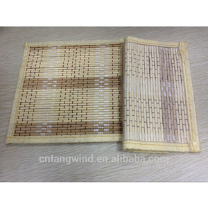 Eco friendly Natural Printed Rattan Bamboo Tile Tea mats/Coasters