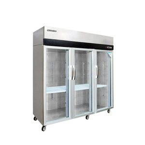 Stainless steel glass door bakery refrigerator showcase