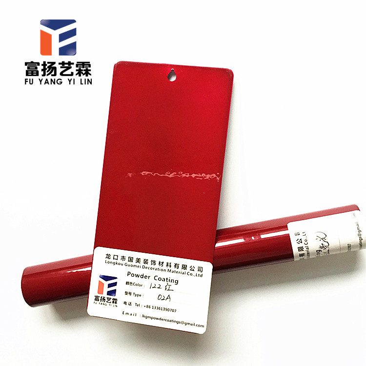 POWDER COATING POWDER 1 KG BAG GLOSS RED RAL 3020.