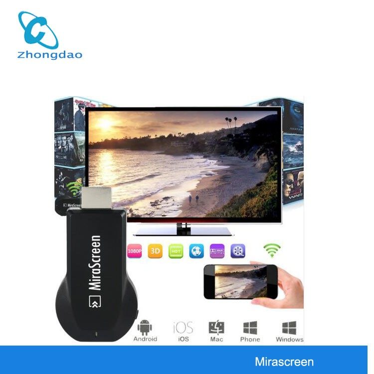 Mirascreen OTA <strong>TV</strong> <strong>Stick</strong> <strong>Dongle</strong> EasyCast EZCast Wi-Fi Display Receiver DLNA Airplay Miracast Airmirroring Full HD 1080P Receiver