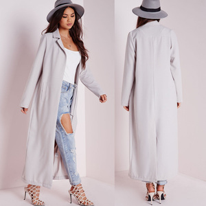 Wholesale Fancy New Style Women Long Sleeve Maxi Duster Coat