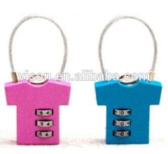 3 Digit Cloth Shape Resettable Luggage Lock Combination Lock