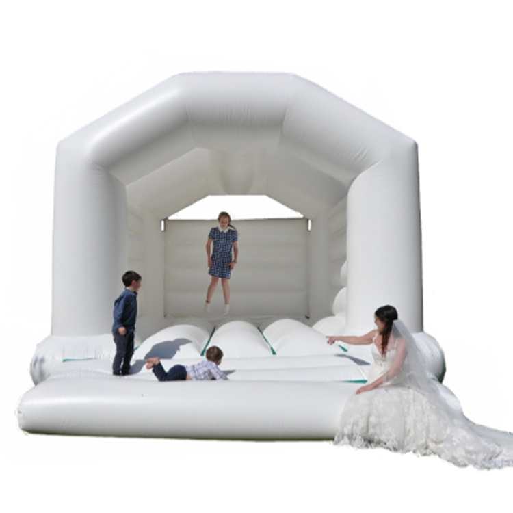 Inflatable Adult Bouncer Sale White carousel bouncy castle Bouncy Castle For Wedding